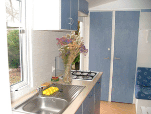 kitchenette du mobilhome